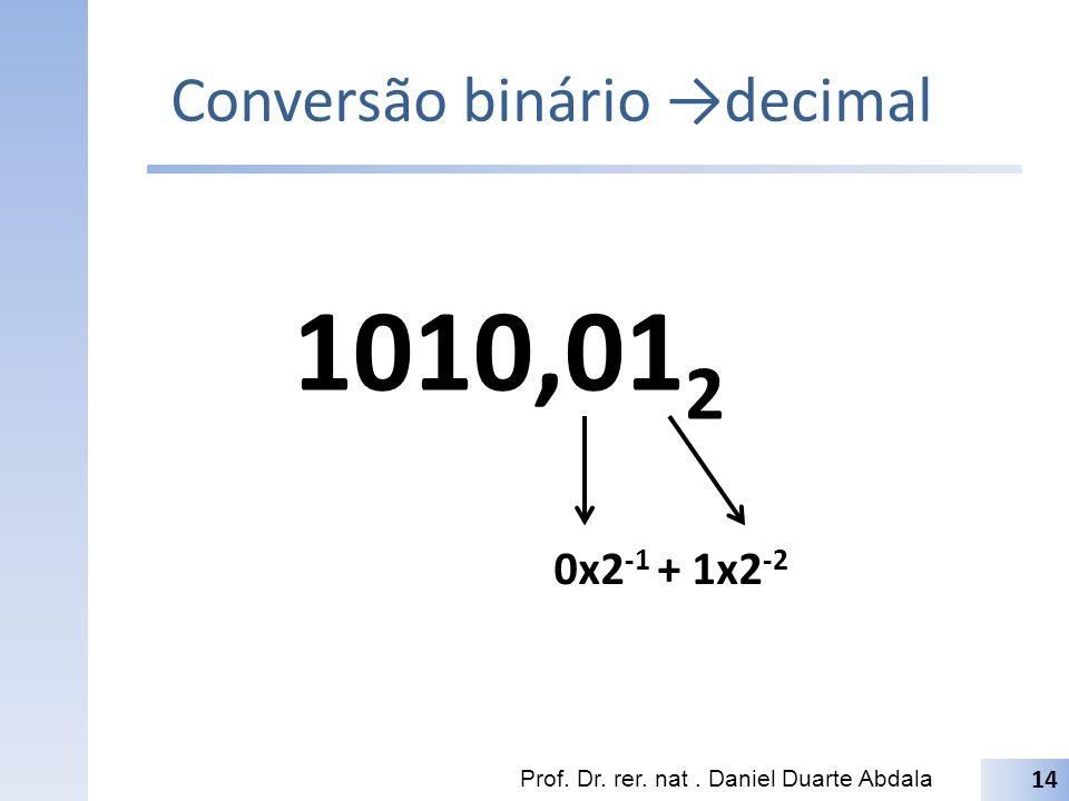 Conversão binário →decimal