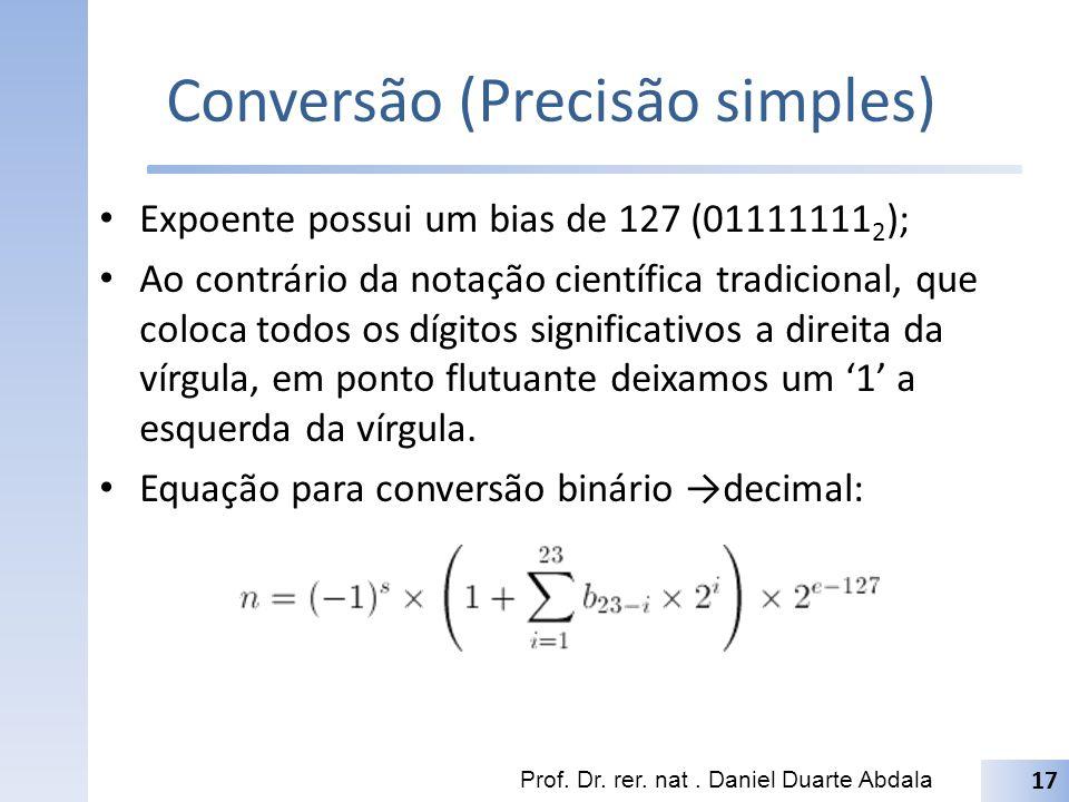 Conversão (Precisão simples)