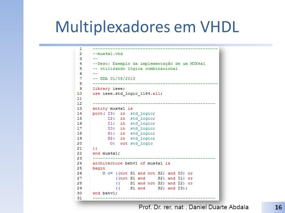 Multiplexadores em VHDL