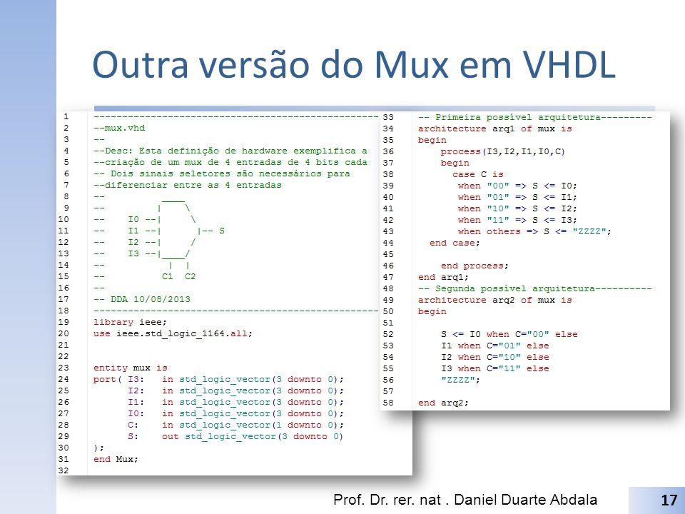 Outra versão do Mux em VHDL