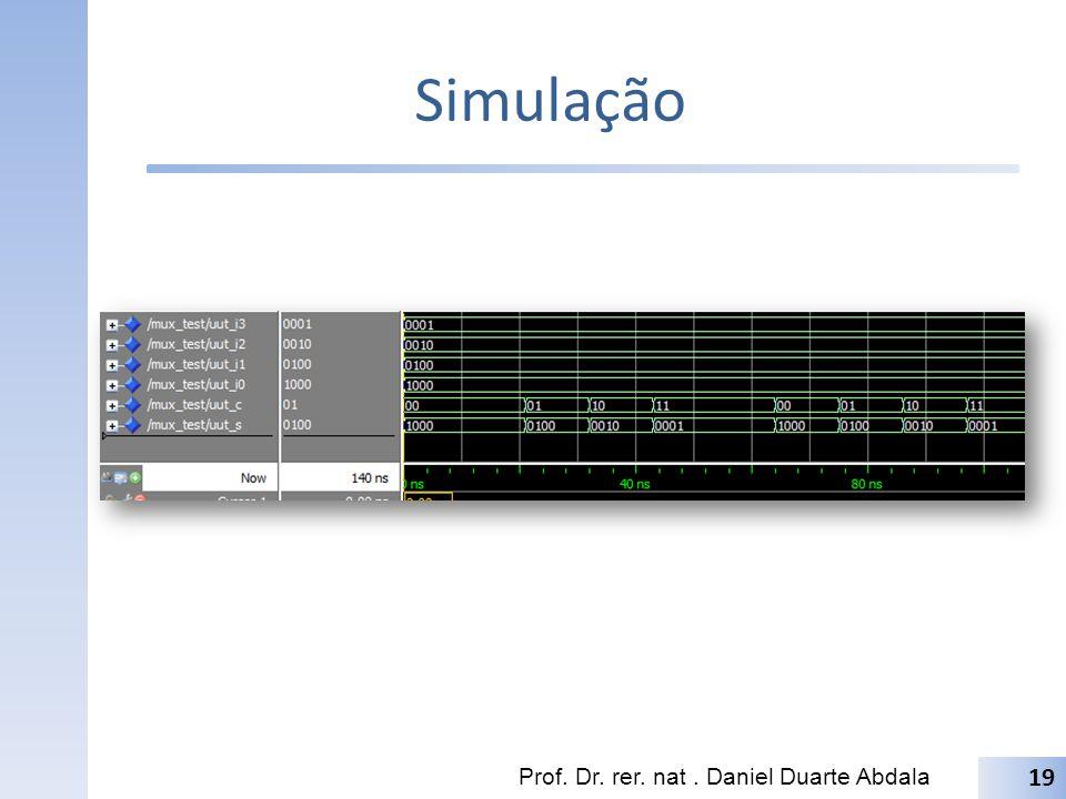 Simulação Prof. Dr. rer. nat . Daniel Duarte Abdala
