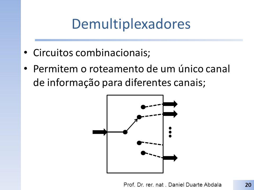 Demultiplexadores Circuitos combinacionais;