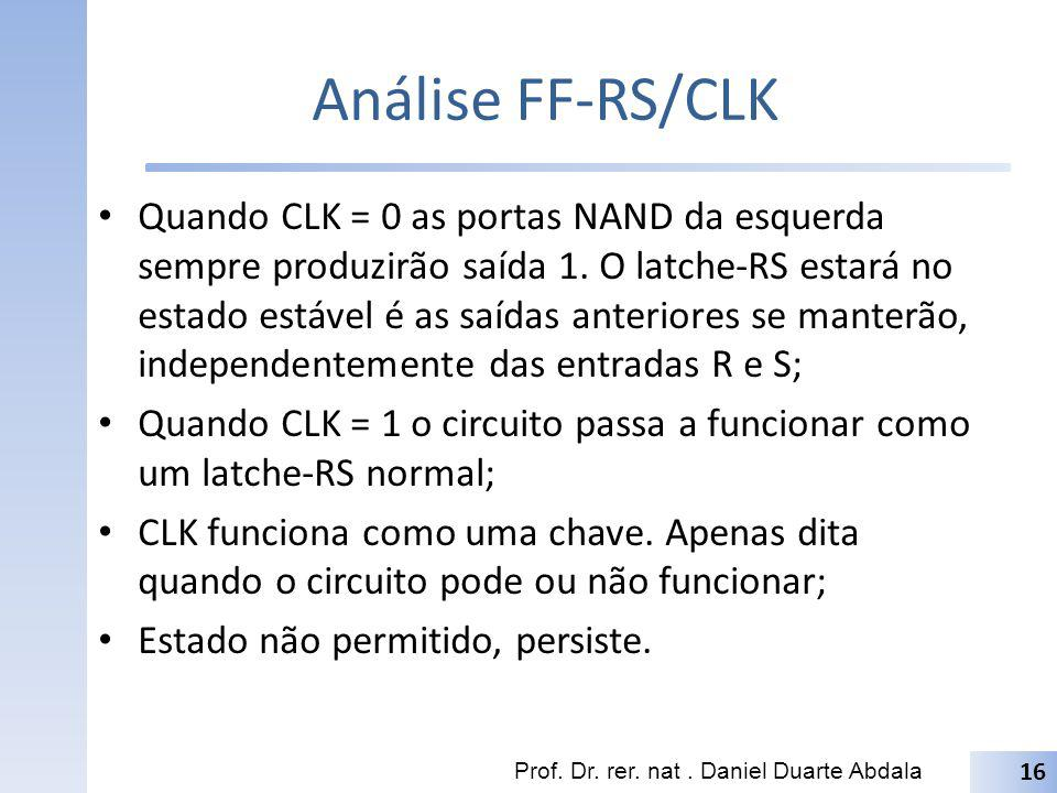 Análise FF-RS/CLK
