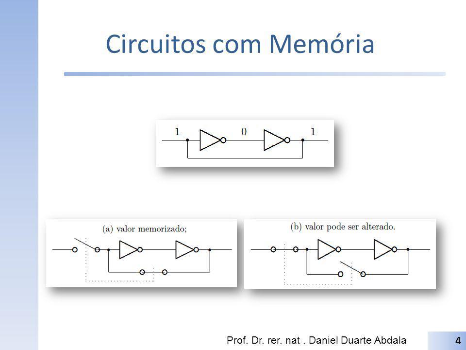 Circuitos com Memória Prof. Dr. rer. nat . Daniel Duarte Abdala