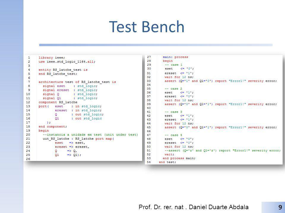 Test Bench Prof. Dr. rer. nat . Daniel Duarte Abdala
