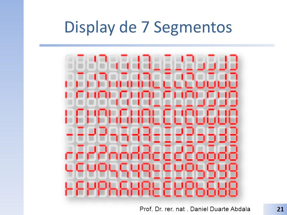 Display de 7 Segmentos Prof. Dr. rer. nat . Daniel Duarte Abdala