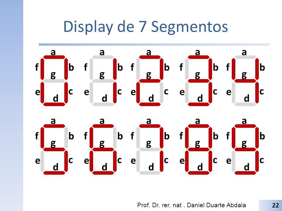 Display de 7 Segmentos a a a a a f b f b f b f b f b g g g g g e c e c