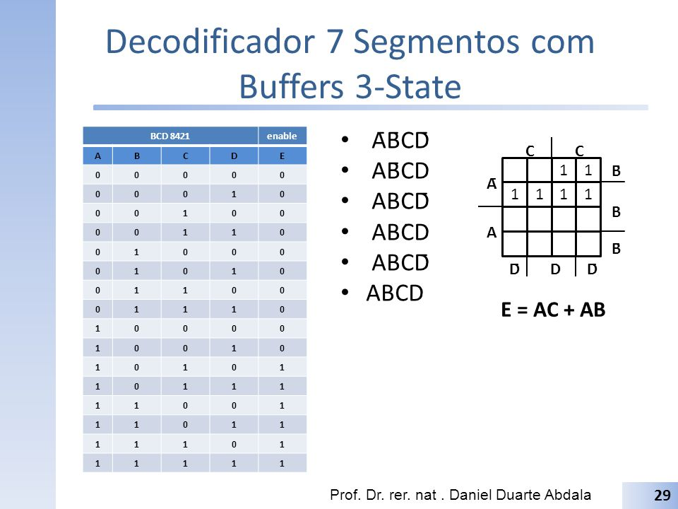 Decodificador 7 Segmentos com Buffers 3-State