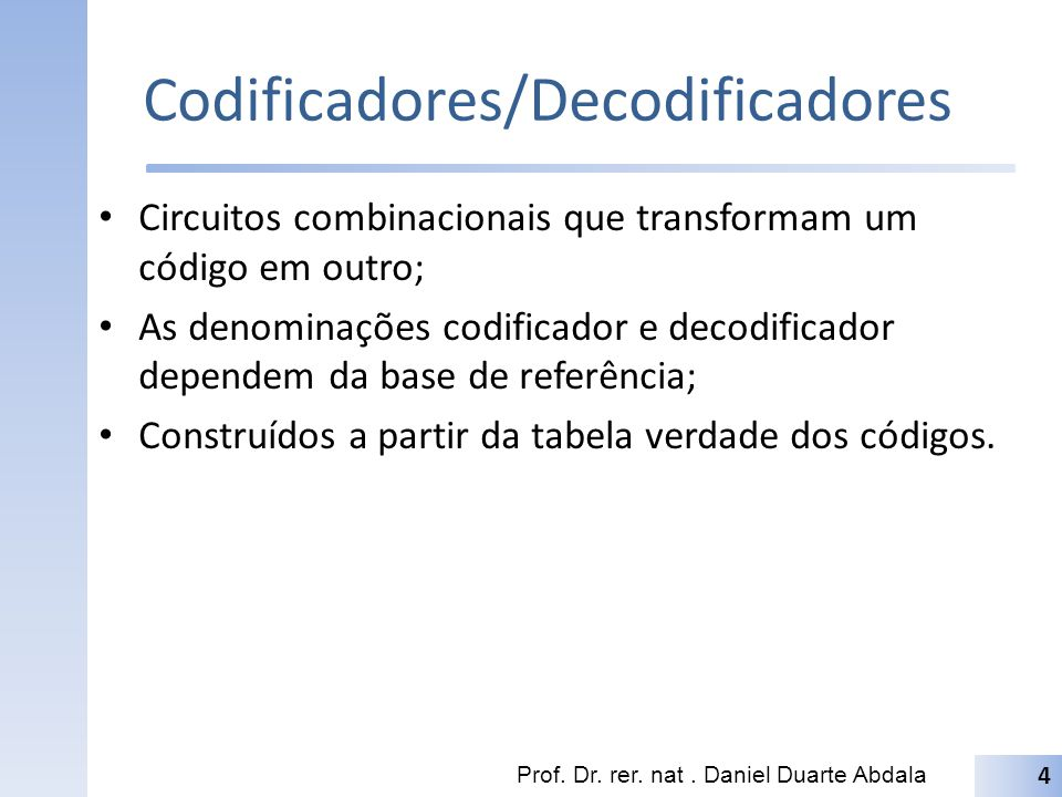 Codificadores/Decodificadores