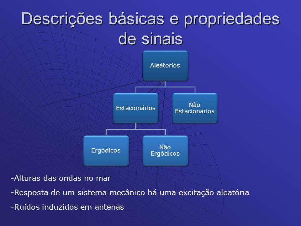 Descrições básicas e propriedades de sinais