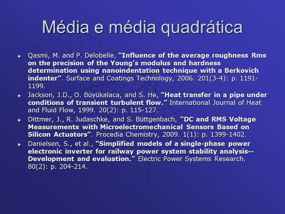 Média e média quadrática
