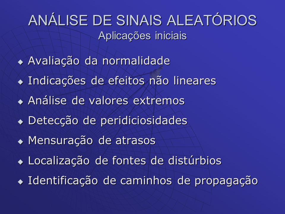 ANÁLISE DE SINAIS ALEATÓRIOS Aplicações iniciais