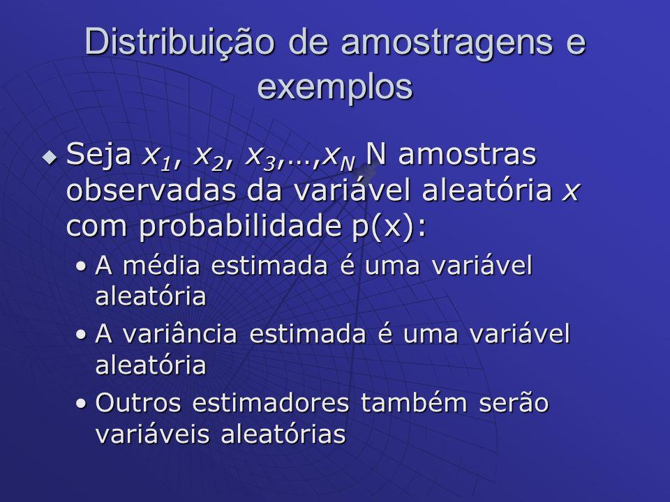 Distribuição de amostragens e exemplos
