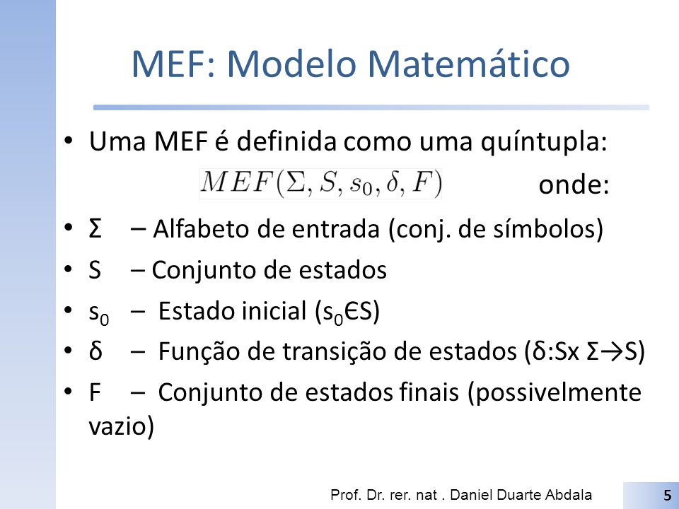 MEF: Modelo Matemático