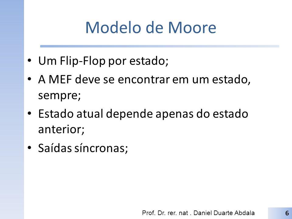 Modelo de Moore Um Flip-Flop por estado;