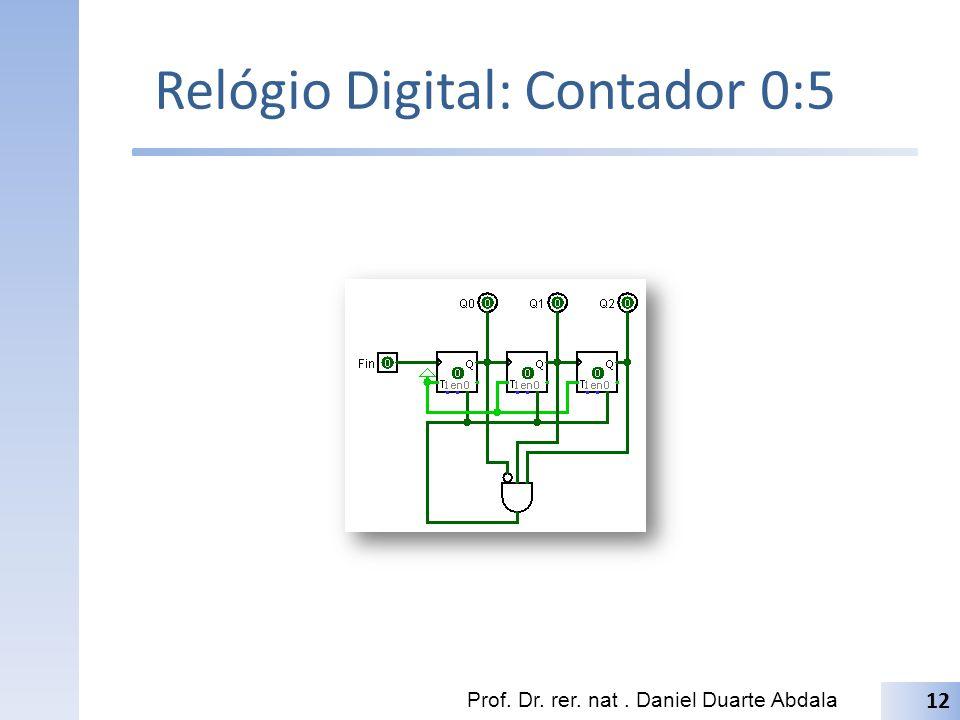 Relógio Digital: Contador 0:5