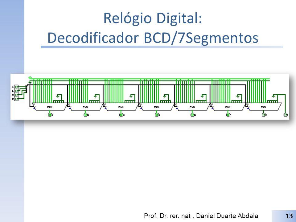 Relógio Digital: Decodificador BCD/7Segmentos