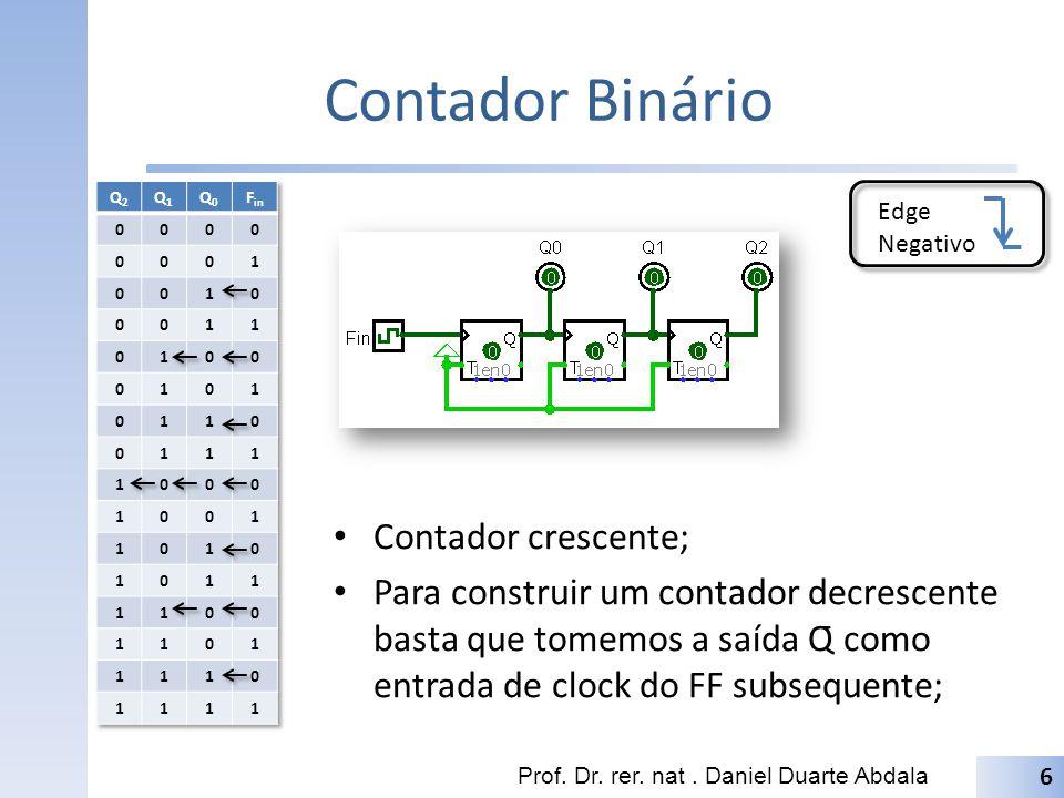 Contador Binário Contador crescente;
