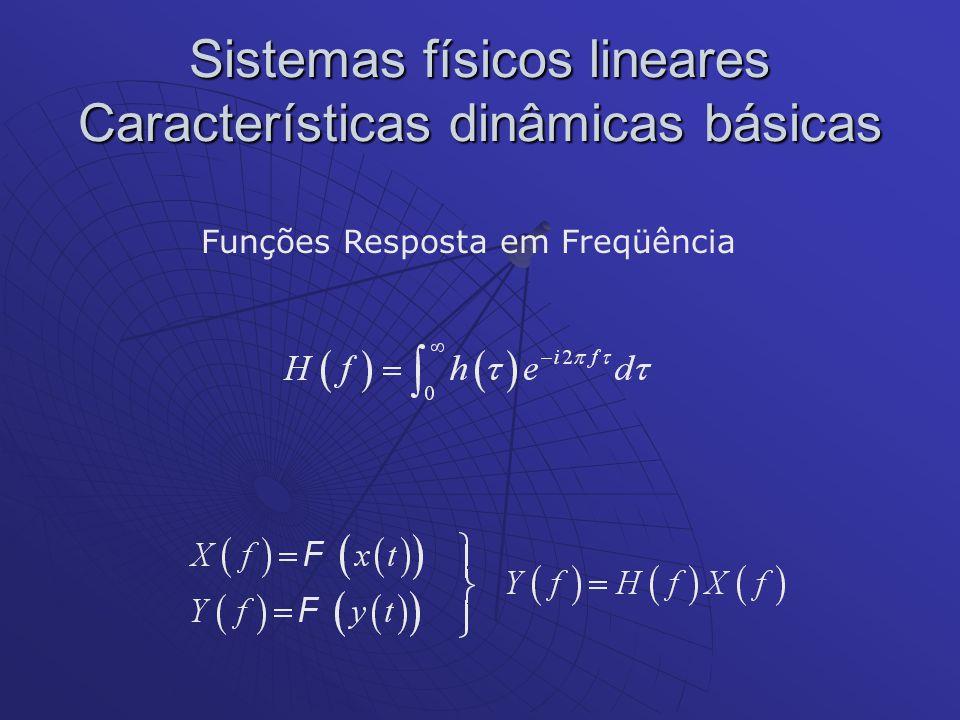 Sistemas físicos lineares Características dinâmicas básicas