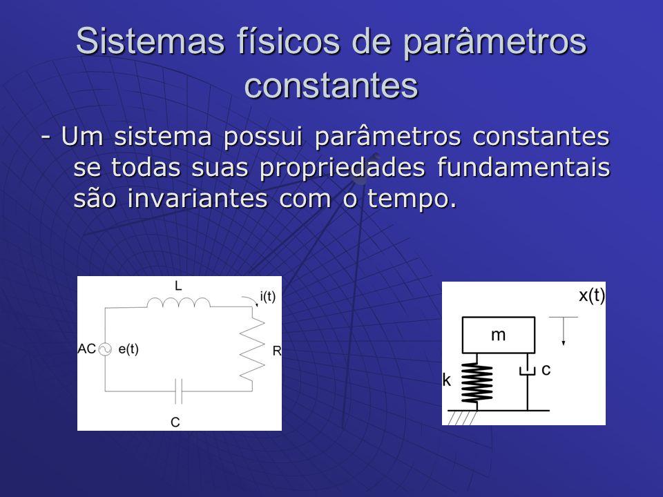 Sistemas físicos de parâmetros constantes