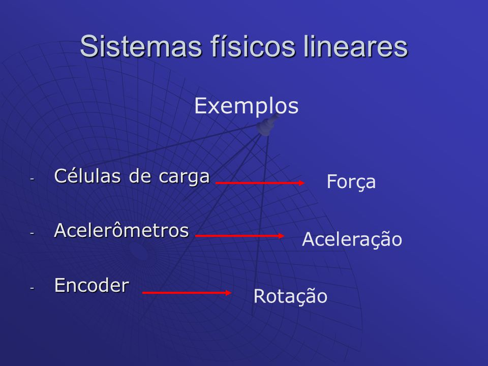 Sistemas físicos lineares
