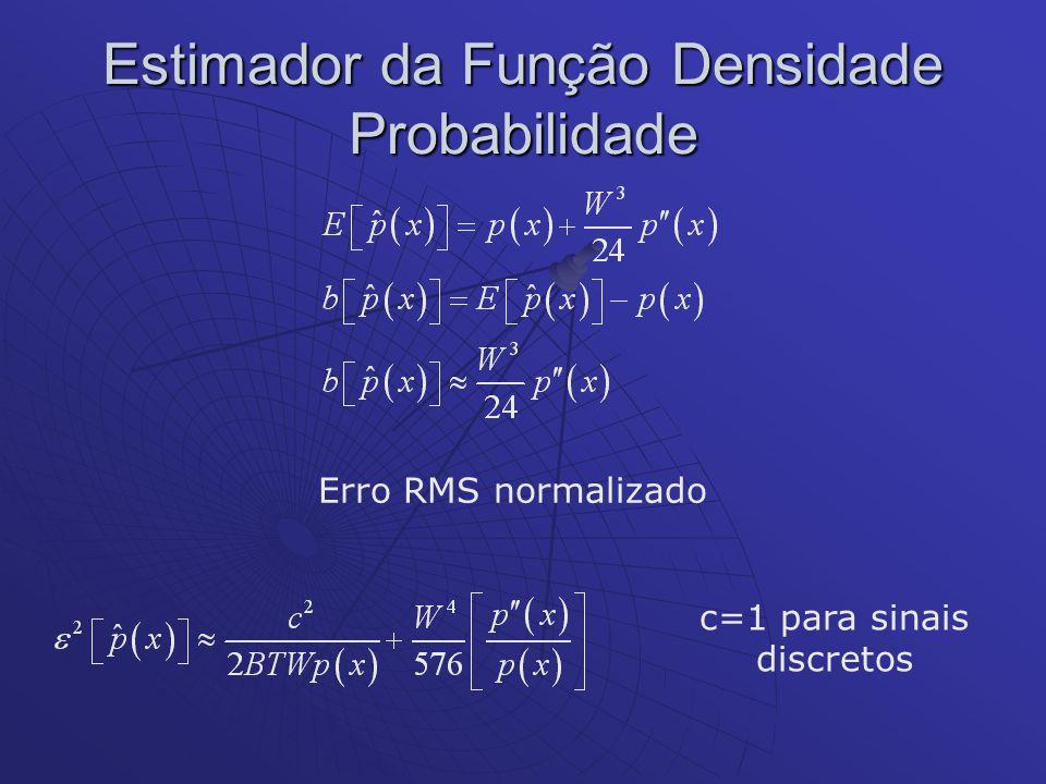 Estimador da Função Densidade Probabilidade