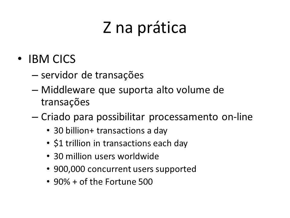 Z na prática IBM CICS servidor de transações