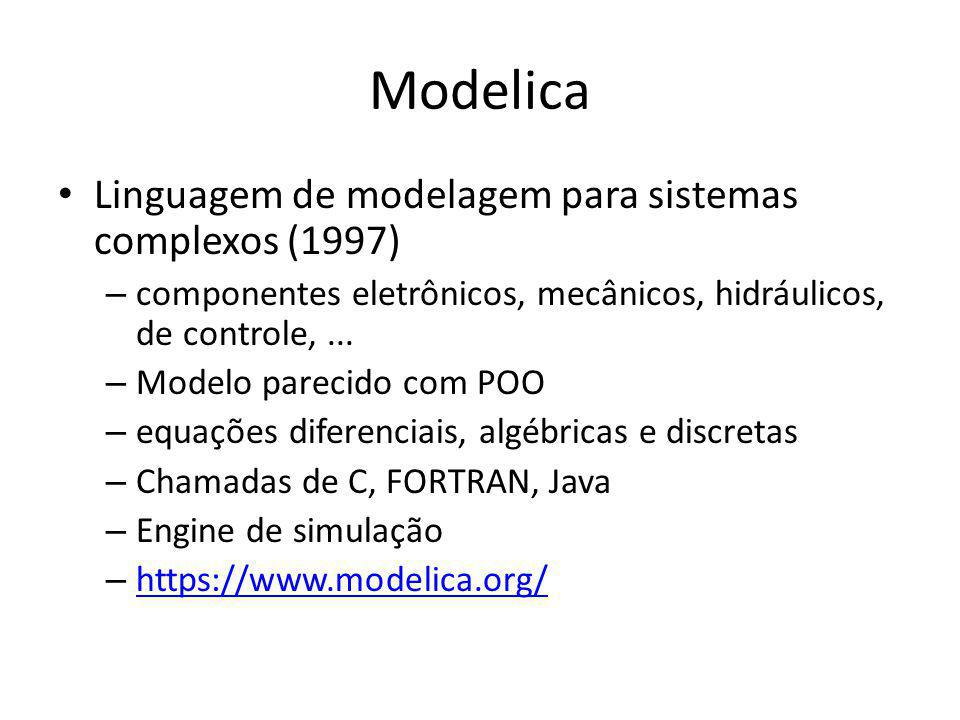 Modelica Linguagem de modelagem para sistemas complexos (1997)