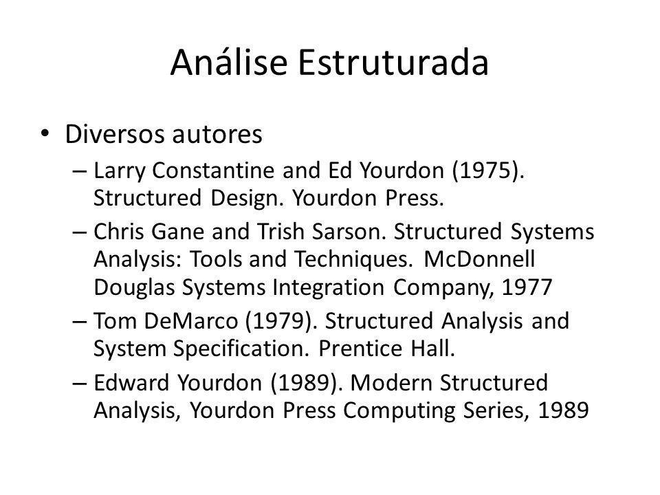 Análise Estruturada Diversos autores