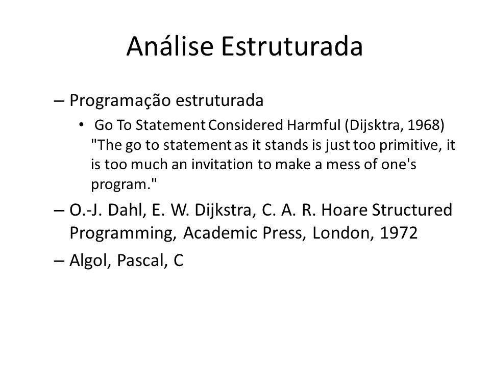 Análise Estruturada Programação estruturada