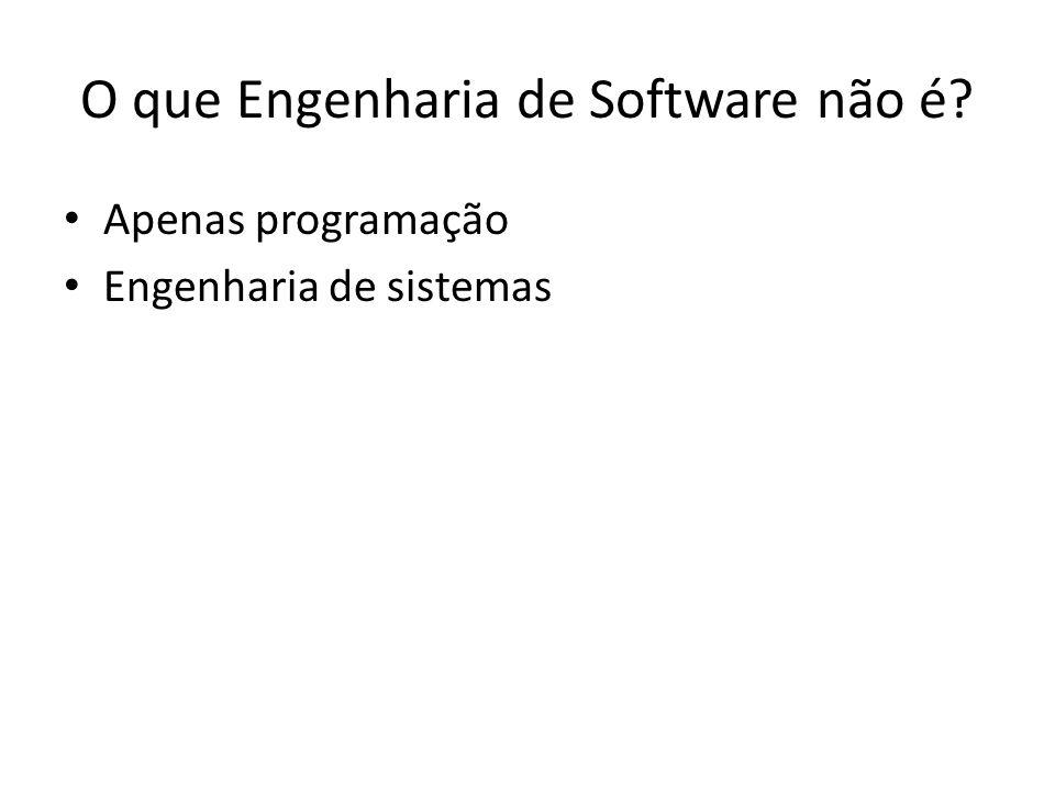 O que Engenharia de Software não é