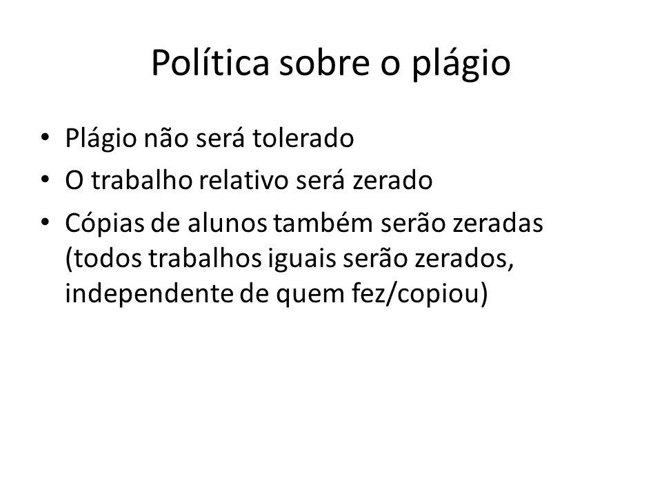 Política sobre o plágio