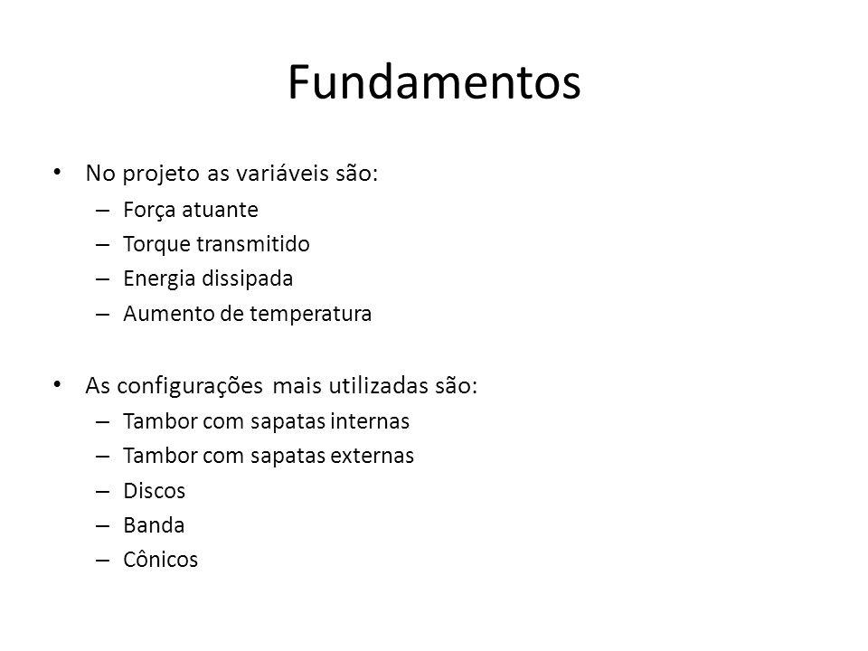 Fundamentos No projeto as variáveis são: