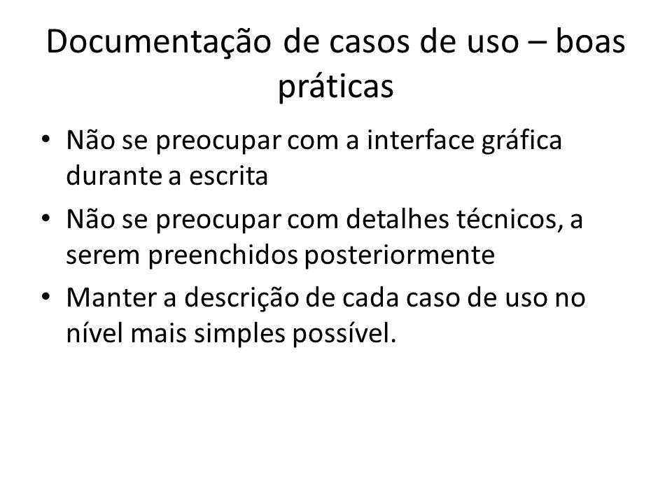 Documentação de casos de uso – boas práticas