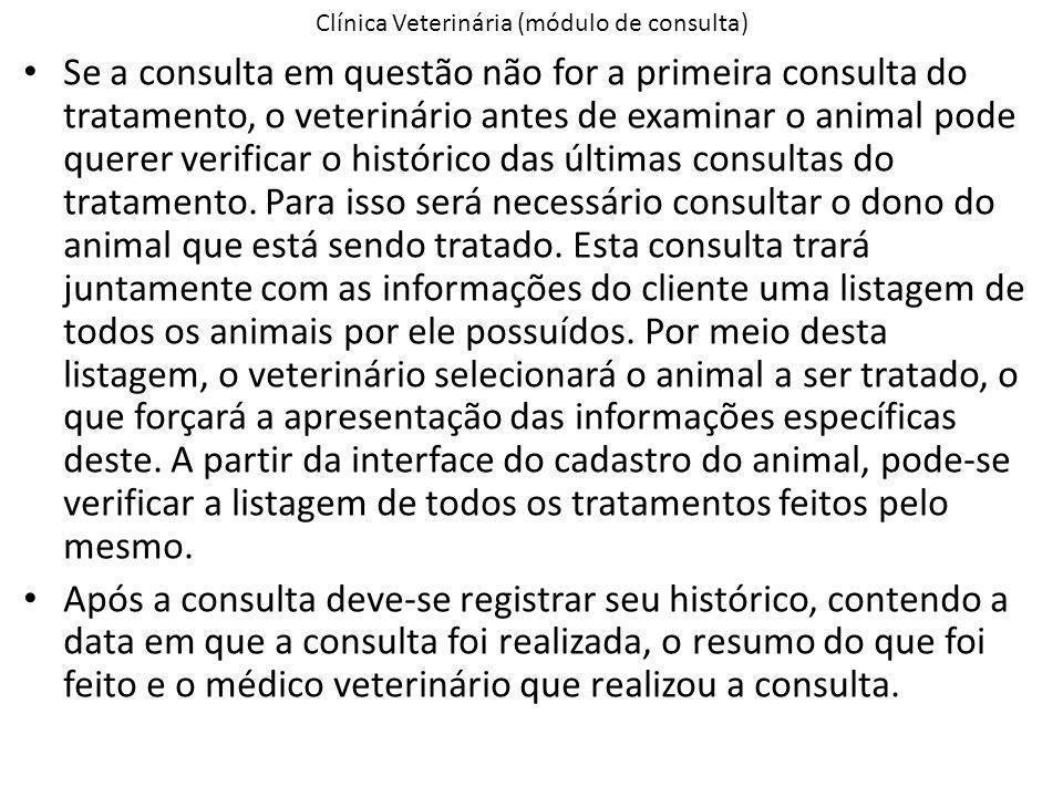 Clínica Veterinária (módulo de consulta)