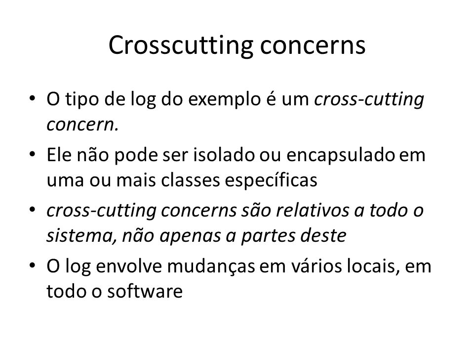Crosscutting concerns