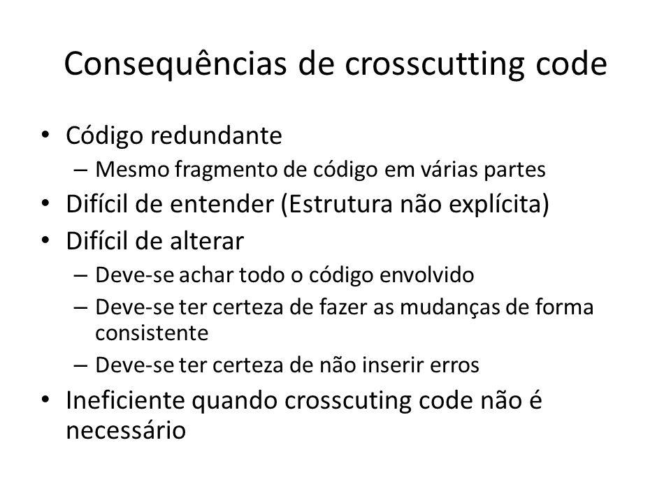 Consequências de crosscutting code