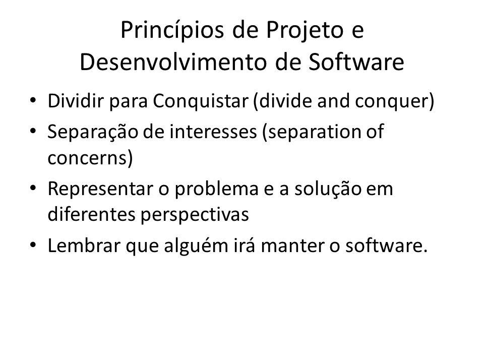 Princípios de Projeto e Desenvolvimento de Software