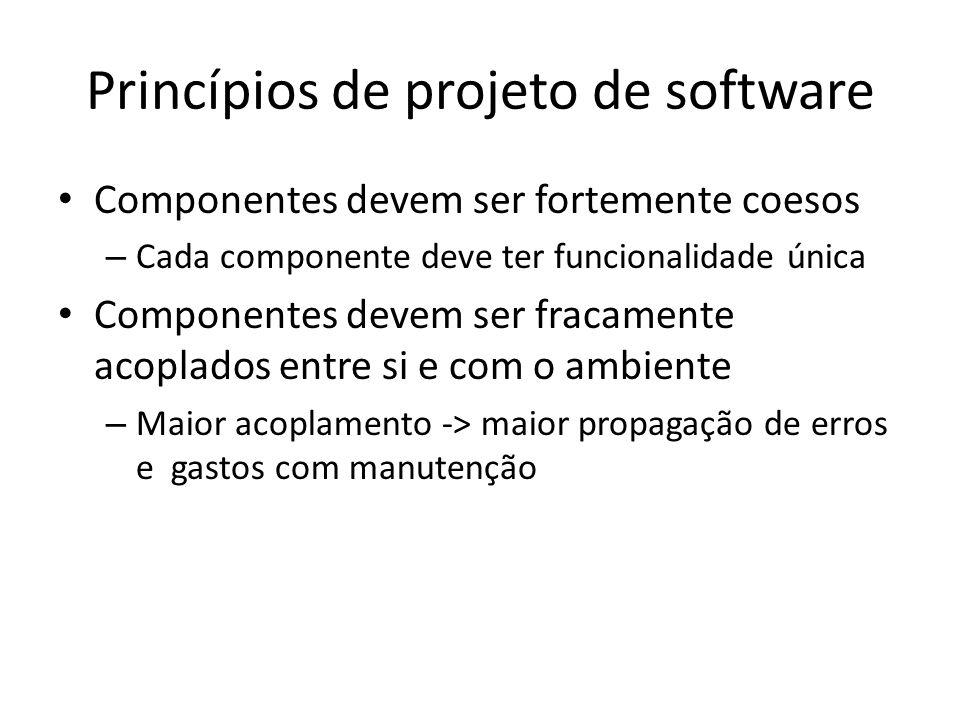 Princípios de projeto de software