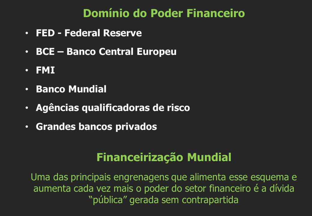 Domínio do Poder Financeiro Financeirização Mundial