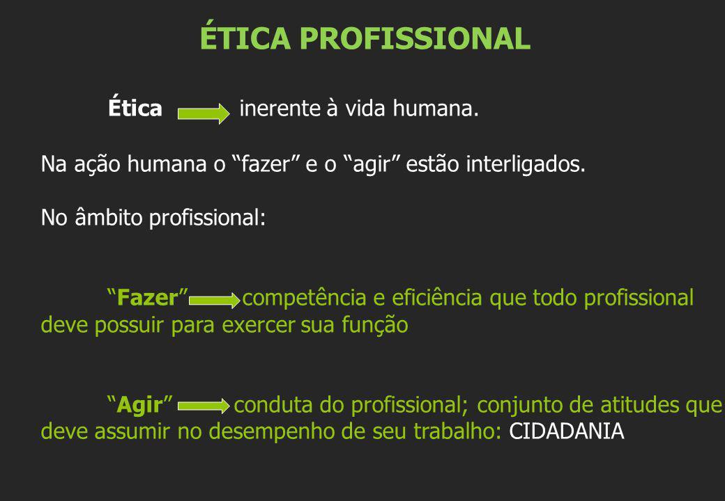 Ética inerente à vida humana.