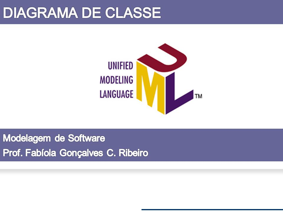 DIAGRAMA DE CLASSE Modelagem de Software