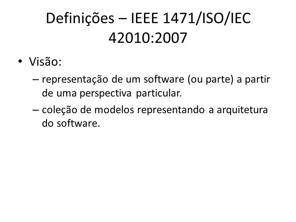 Definições – IEEE 1471/ISO/IEC 42010:2007