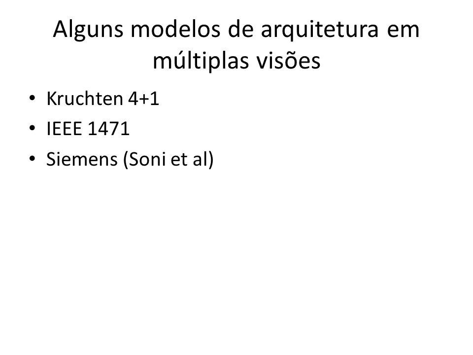 Alguns modelos de arquitetura em múltiplas visões