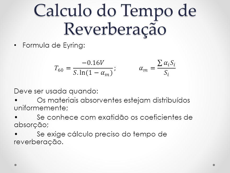 Calculo do Tempo de Reverberação