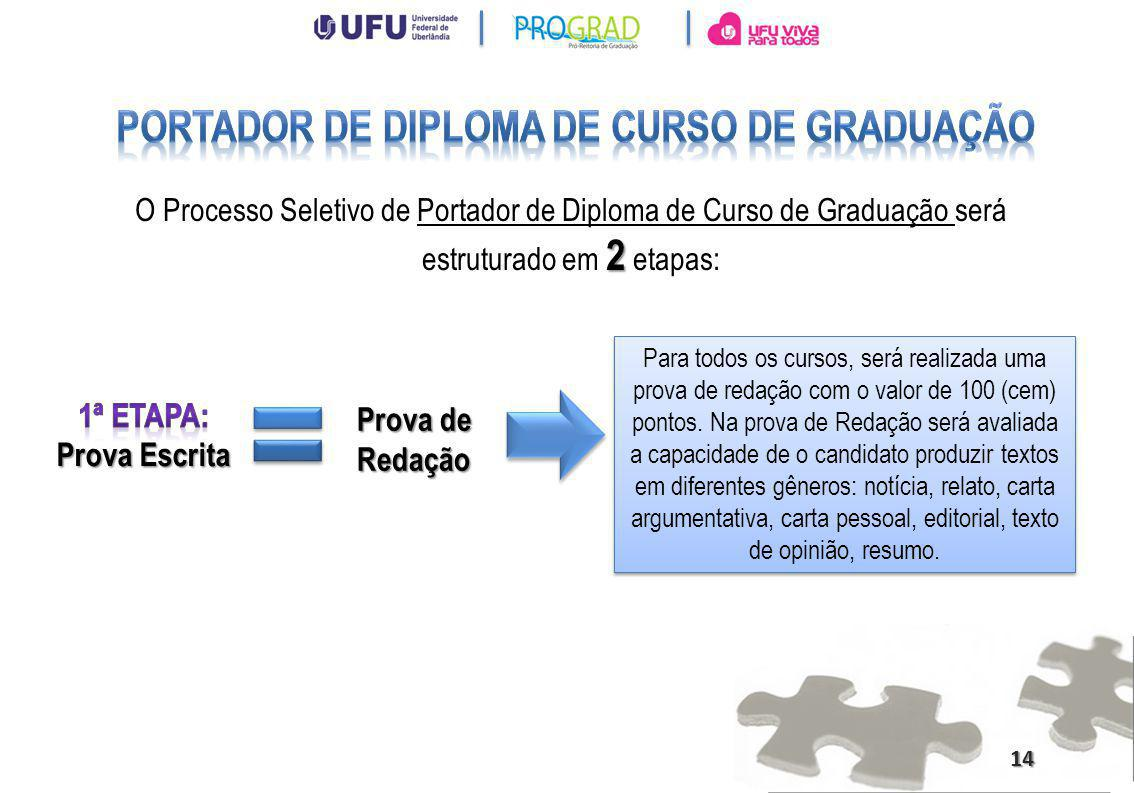 Portador de Diploma de Curso de Graduação