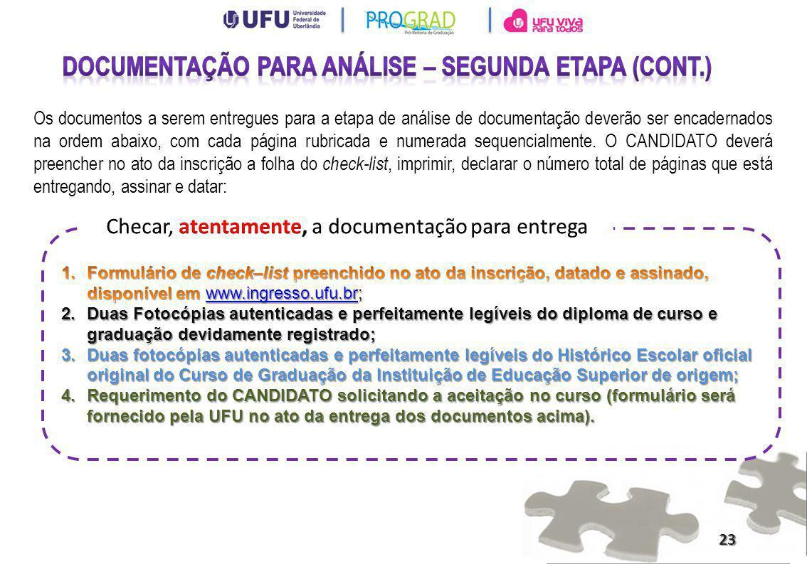 Documentação para análise – segunda etapa (cont.)