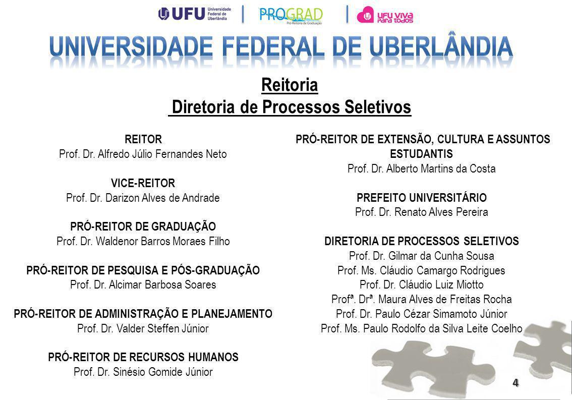 Universidade Federal de Uberlândia Diretoria de Processos Seletivos