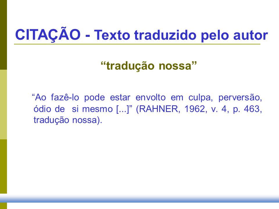 CITAÇÃO - Texto traduzido pelo autor