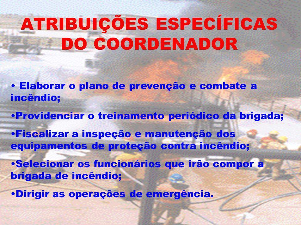 ATRIBUIÇÕES ESPECÍFICAS DO COORDENADOR